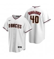 Men's Nike Arizona Diamondbacks #40 Madison Bumgarner White Home Stitched Baseball Jersey