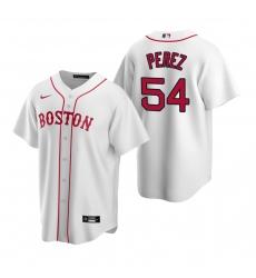 Men's Nike Boston Red Sox #54 Martin Perez White Alternate Stitched Baseball Jersey