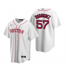 Men's Nike Boston Red Sox #57 Eduardo Rodriguez White Alternate Stitched Baseball Jersey