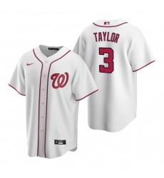 Men's Nike Washington Nationals #3 Michael A. Taylor White Home Stitched Baseball Jersey