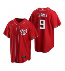 Men's Nike Washington Nationals #9 Eric Thames Red Alternate Stitched Baseball Jersey
