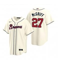 Men's Nike Atlanta Braves #27 Fred McGriff Cream Alternate Stitched Baseball Jersey