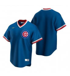 Men's Nike Chicago Cubs Blank Royal Cooperstown Collection Road Stitched Baseball Jersey