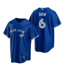 Men's Nike Toronto Blue Jays #6 Travis Shaw Royal Alternate Stitched Baseball Jersey