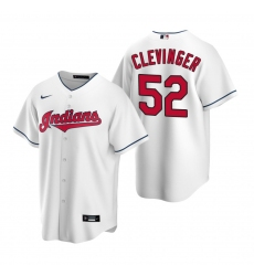 Men's Nike Cleveland Indians #52 Mike Clevinger White Home Stitched Baseball Jersey