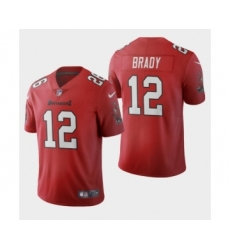 Men's Tampa Bay Buccaneers #12 Tom Brady Red 2020 Vapor Limited Jersey