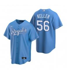 Men's Nike Kansas City Royals #56 Brad Keller Light Blue Alternate Stitched Baseball Jersey