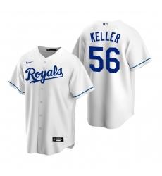 Men's Nike Kansas City Royals #56 Brad Keller White Home Stitched Baseball Jersey
