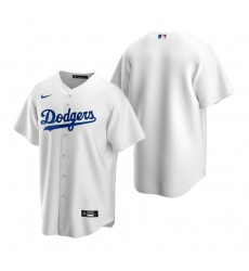 Men's Nike Los Angeles Dodgers Blank White Home Stitched Baseball Jersey