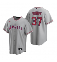 Men's Nike Los Angeles Angels #37 Dylan Bundy Gray Road Stitched Baseball Jersey