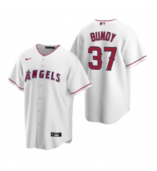 Men's Nike Los Angeles Angels #37 Dylan Bundy White Home Stitched Baseball Jersey