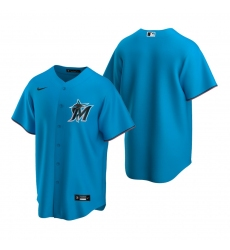 Men's Nike Miami Marlins Blank Blue Alternate Stitched Baseball Jersey