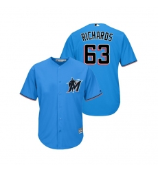 Men's Nike Miami Marlins #63 Trevor Richards Blue Alternate 2019 Cool Base Stitched MLB Jersey