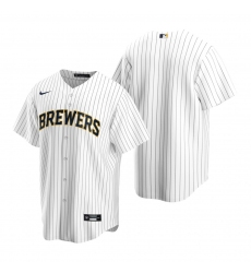 Men's Nike Milwaukee Brewers Blank White Alternate Stitched Baseball Jersey