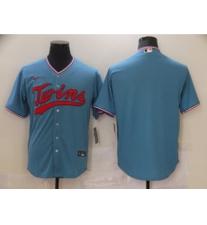 Men's Nike Minnesota Twins Blank Blue Alternate Stitched Baseball Jersey