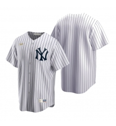 Men's Nike New York Yankees Blank White Cooperstown Collection Home Stitched Baseball Jersey