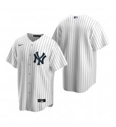 Men's Nike New York Yankees Blank White Home Stitched Baseball Jersey