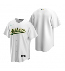 Men's Nike Oakland Athletics Blank White Home Stitched Baseball Jersey
