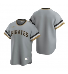 Men's Nike Pittsburgh Pirates Blank Gray Cooperstown Collection Road Stitched Baseball Jersey