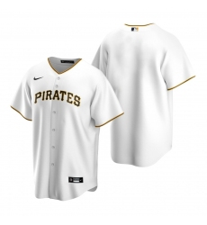 Men's Nike Pittsburgh Pirates Blank White Home Stitched Baseball Jersey