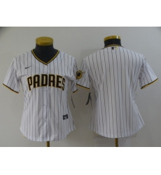 Women's Nike San Diego Padres Blank White Brown Home Stitched Baseball Jersey