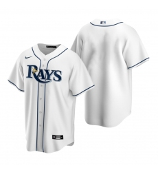 Men's Nike Tampa Bay Rays Blank White Home Stitched Baseball Jersey