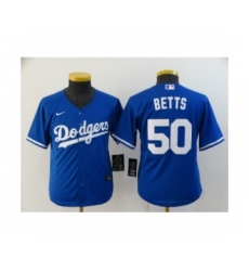 Youth Los Angeles Dodgers #50 Mookie Betts Royal 2020 Cool Base Jersey