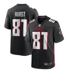 Men's Atlanta Falcons #81 Hayden Hurst Nike Black Game Jersey