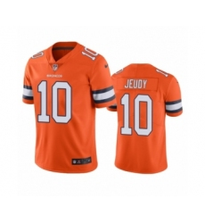 Denver Broncos #10 Jerry Jeudy Color Rush Limited Orange Jersey