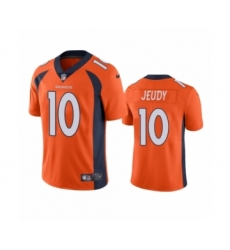 Denver Broncos #10 Jerry Jeudy Orange 2020 NFL Draft Vapor Limited Jersey