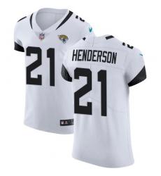 Men's Jacksonville Jaguars #21 C.J. Henderson White Stitched New Elite Jersey