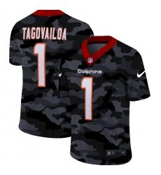 Men's Miami Dolphins #1 Tua Tagovailoa Camo 2020 Nike Limited Jersey