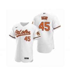 Men's Baltimore Orioles #45 Keegan Akin Nike White Authentic Home Jersey