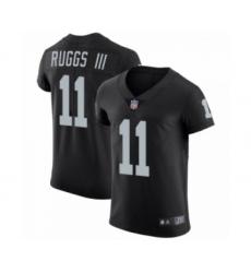 Men Henry Ruggs III #11 Las Vegas Raiders Elite Black Team Color Vapor Untouchable Jersey