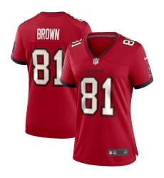 Women's Tampa Bay Buccaneers #81 Antonio Brown Nike Red Limited Jersey