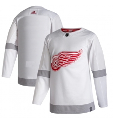 Men's Detroit Red Wings adidas Blank White 2020-21 Reverse Retro Authentic Jersey