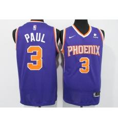 Men's Phoenix Suns #3 Chris Paul Nike Purple Swingman Jersey