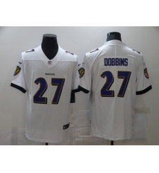 Men's Baltimore Ravens #27 J.K. Dobbins Nike White Limited Jersey
