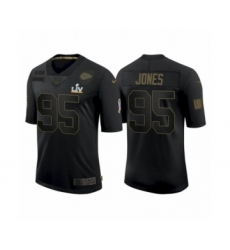Youth Kansas City Chiefs #95 Chris Jones Black 2021 Super Bowl LV Jersey