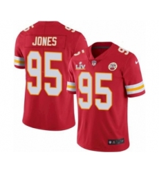 Youth Kansas City Chiefs #95 Chris Jones Red 2021 Super Bowl LV Jersey