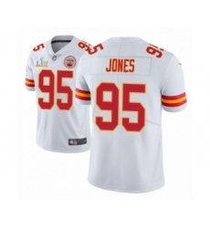 Youth Kansas City Chiefs #95 Chris Jones White 2021 Super Bowl LV Jerse