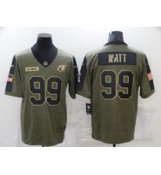Men's Arizona Cardinals #99 J.J. Watt Nike Olive 2021 Salute To Service Limited Player Jersey