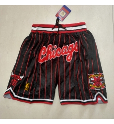 Men's Chicago Bulls Black Stripe Decennia Shorts