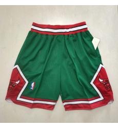 Men's Chicago Bulls Green Shorts