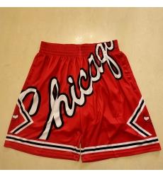 Men's Chicago Bulls Red Shorts -001