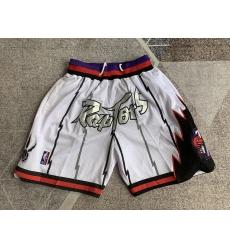Men's Toronto Raptors White four pockets Shorts