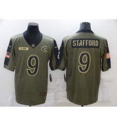 Men's Los Angeles Rams #9 Matthew Stafford Nike Olive 2021 Salute To Service Limited Player Jersey