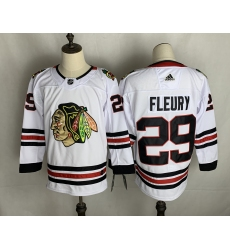 Men's Chicago Blackhawks #29 Marc-André Fleury Fanatics Branded White Home Premier Breakaway Player Jersey