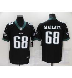 Men's Philadelphia Eagles #68 Jordan Mailata Nike Midnight Black Limited Jersey