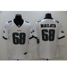 Men's Philadelphia Eagles #68 Jordan Mailata Nike Midnight White Limited Jersey
